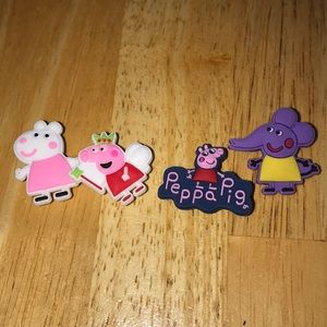 Other - Lot of 4 peppa pig croc charms jibbitz style